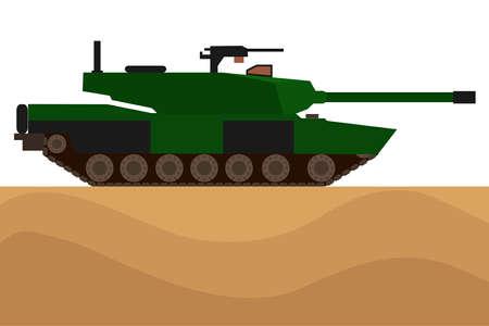 Tank. Military equipment. Flat design, vector illustration, vector.
