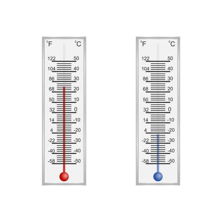 Thermometer. thermometer for measuring air temperature. Flat design, vector illustration, vector.