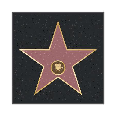 Star alley. Star of glory. Flat design, vector illustration, vector.