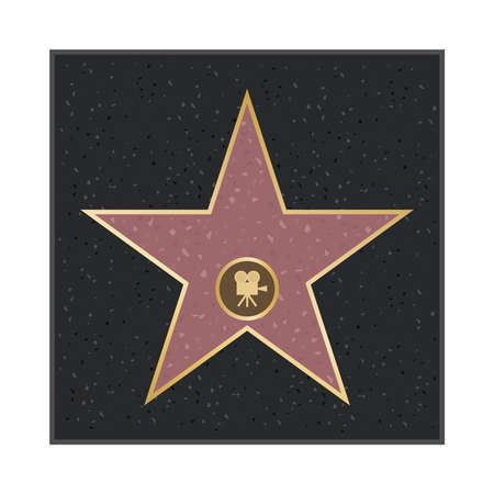 Star alley. Star of glory. Flat design, vector illustration, vector.
