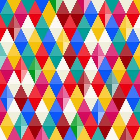 Abstract background of multicolored rhombuses. Multicolored rhombuses. Flat design, vector illustration, vector. Foto de archivo - 102682758