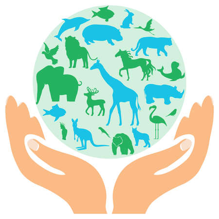 Animal green worldhuge collection of icons and elements. Animal green world - huge collection of icons and elements