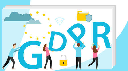 GDPR concept illustration. GDPR banner. Idea of data protection.