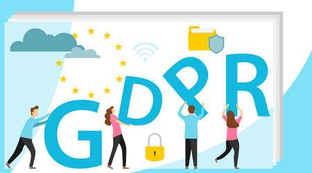 GDPR concept illustration. GDPR banner. Idea of data protection.