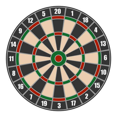 Darts. Realistic black circle for playing darts isolated on a white background. Vector illustration of a circle of darts. Vector.