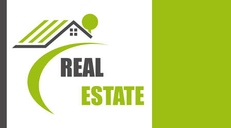 Real estate agency banner. Real commercial property. Horizontal banner. Vector illustration. Vector.