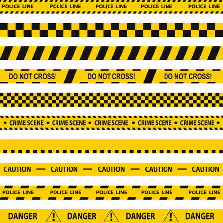 Police tape, restrictive tape, safety tape. Vector illustration Vector