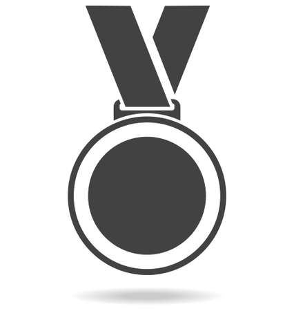 Sports medal icon. Sports medal with shadow isolated on white background. Vector illustration. Vector.