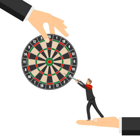 People play darts. A circle for playing darts with darts. Vector illustration. Vector.