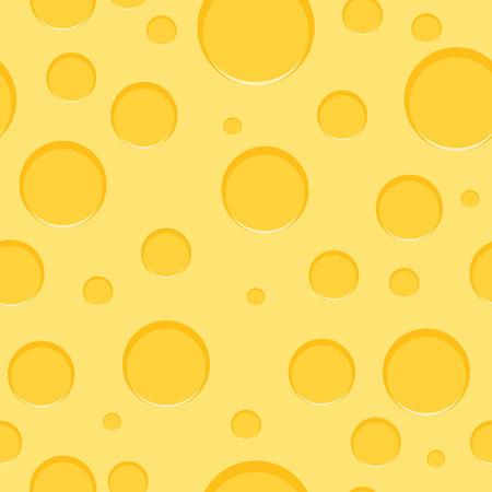 Cheese, cheese seamless texture. Vector illustration Vector Illustration