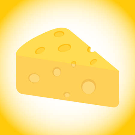 Cheese, a piece of cheese in isometric view on a white background. Vector illustration. Vector.