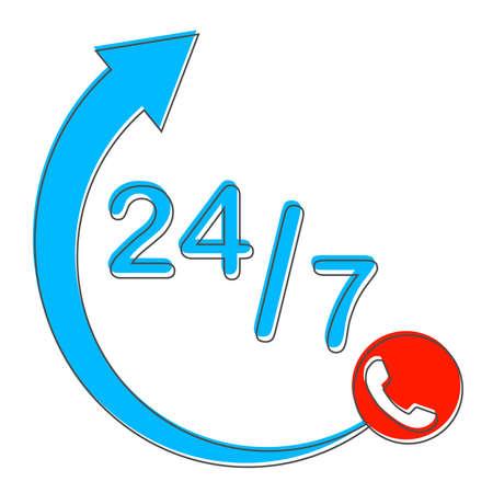 Customer support, call center. Vector illustration Vector