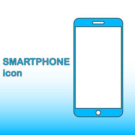 Realistic smartphone icon in flat design. Smartphone designer icon. Vector illustration. Vector. Illustration