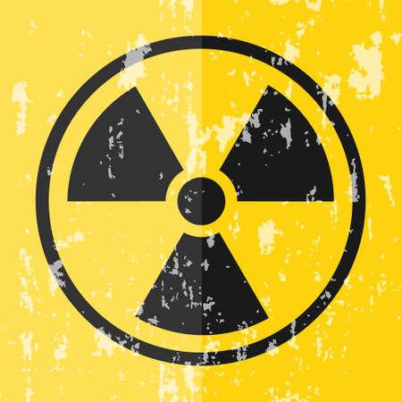 Radiation sign. Radiation vintage sign. Vector illustration Vector