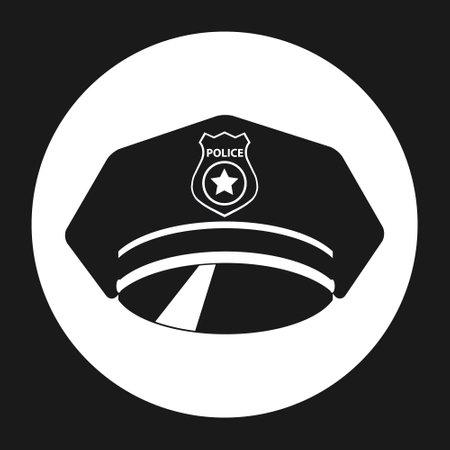 Police cap. Police cap icon. Vector illustration Vector Illustration