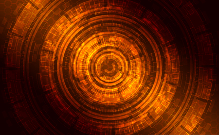 Abstract dark shining technical background (gold, orange, )