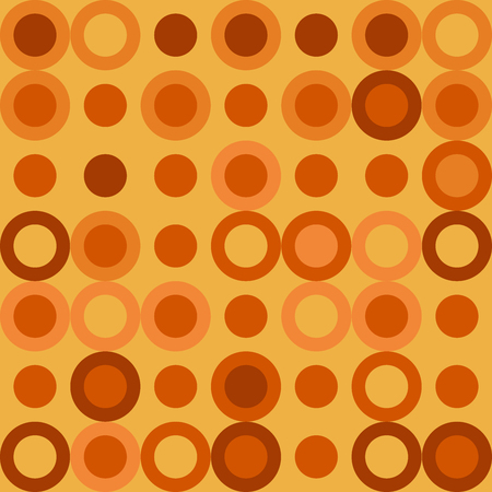 Vector Illustration: Seamless Background with Big Dots in Yellow and Orange Color. Иллюстрация