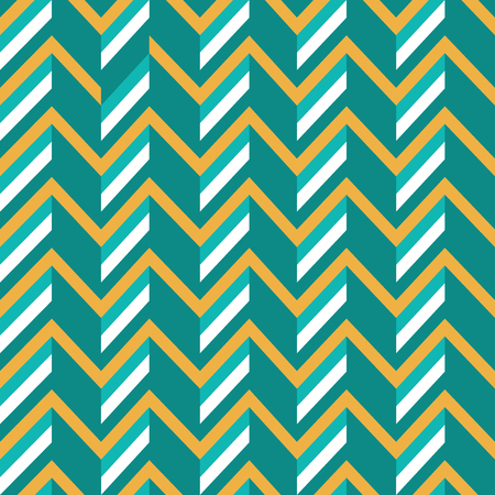 Vector Illustration: Zigzag Retro Background with Simple 3D Effect.