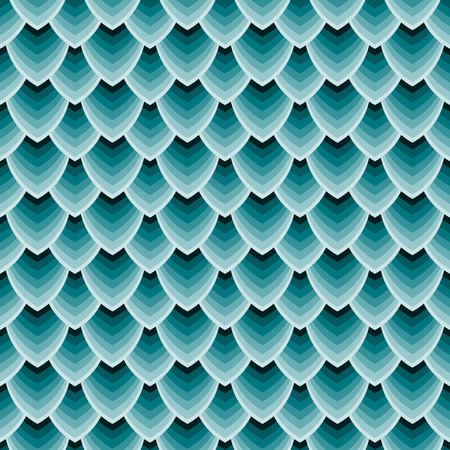 Vektor-Illustration Nahtlose Textur von Drachenschuppen, Reptilienhaut. Vektorgrafik
