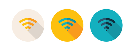 Simple Flat Design Icon Indicated WiFi Zone. Ilustrace