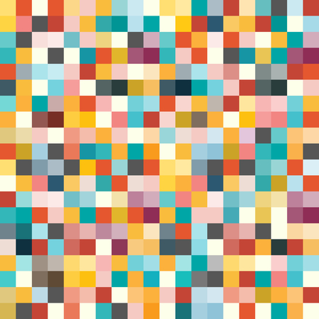 Seamless Background with Colorful Cubes. Vector Illustration.