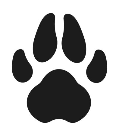 Dog Paw. Simple vector illustration: a black foot print.