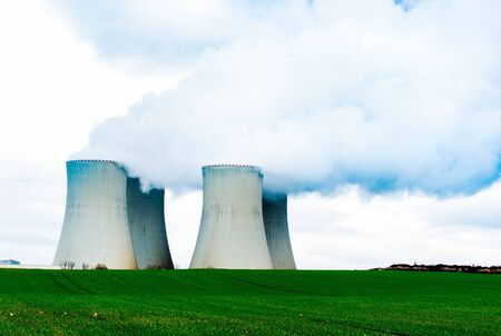 Cooling towers of nuclear power plant.