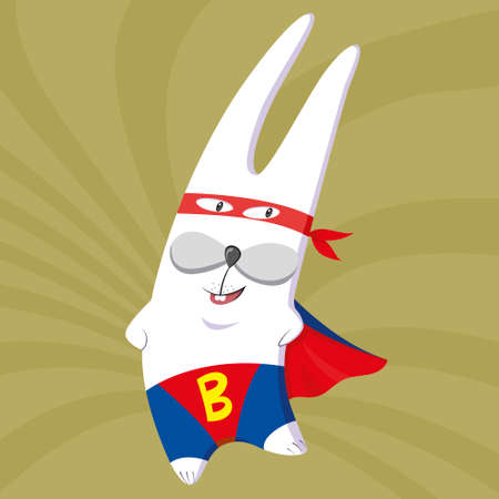 super bunny in a red cloak and a a mask