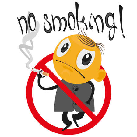 Stop smoking. The smoker is placed in the sign ban