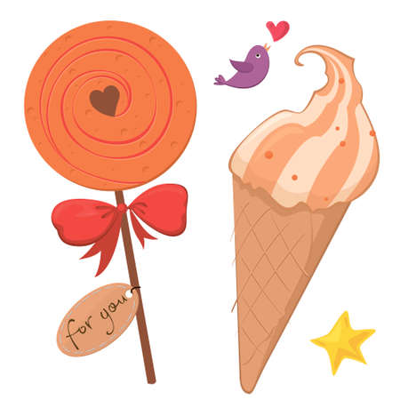 cone cake cone: A vector illustration  of desserts for the sweet-toothed Illustration