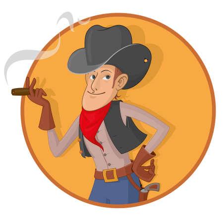 gunslinger: man wearing a gray hat while smoking