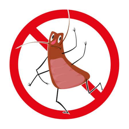 Vector Illustration of a Cockroach emblem