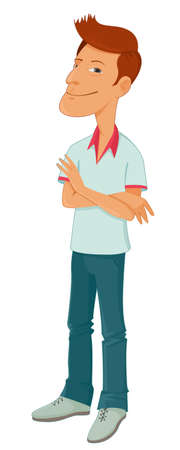 folded hands: man cartoon character with folded hands