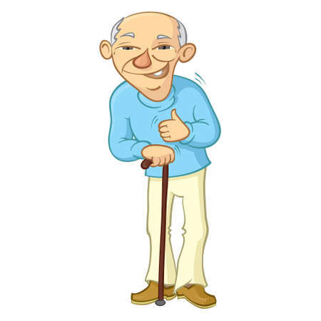 old people smiling: old man with thumb up