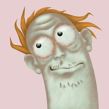Portrait of a very strange looking man