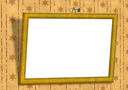 textur: empty frame on the wall