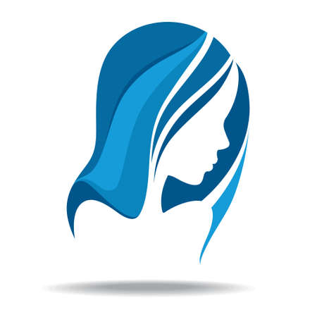 visage femme profil: silhouette de femme Illustration