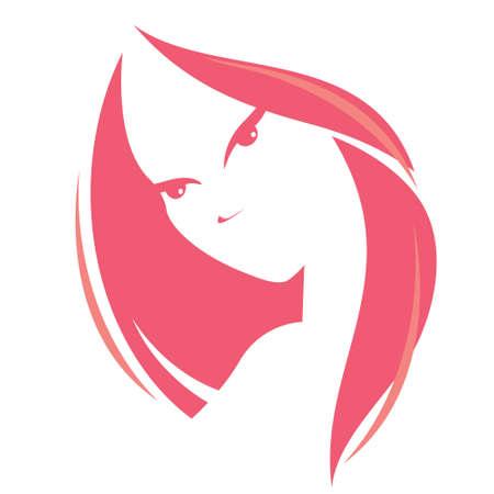 fiatal nők: illusztrációja nő fejét, vektor