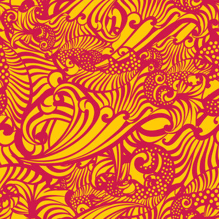 interlace: abstract seamless pattern, Vector illustration