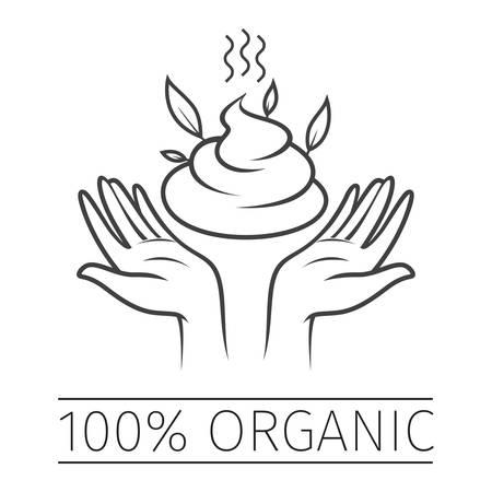 100 Percent Organic Sticker, Icon, Tag or Label
