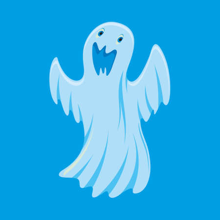 bugaboo: illustration of ghost cartoon character on blue background