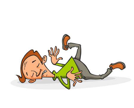Dode man liggend op zijn rug op de grond