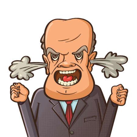 Un homme en colère criant. Vecteurs