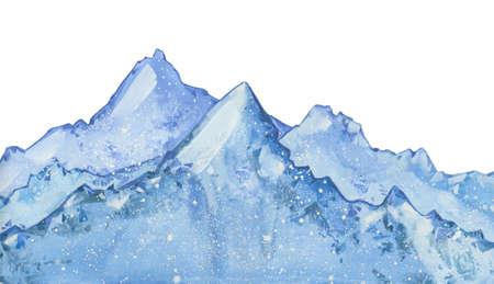 watercolor snow  peaks Stok Fotoğraf