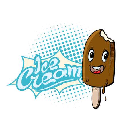 Ice cream. Isolated vector illustration. Cartoon style