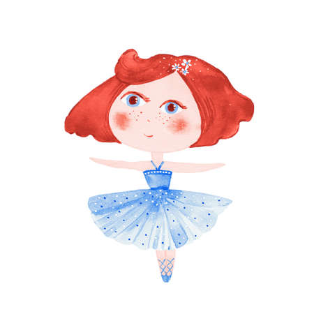 watercolor little ballerina