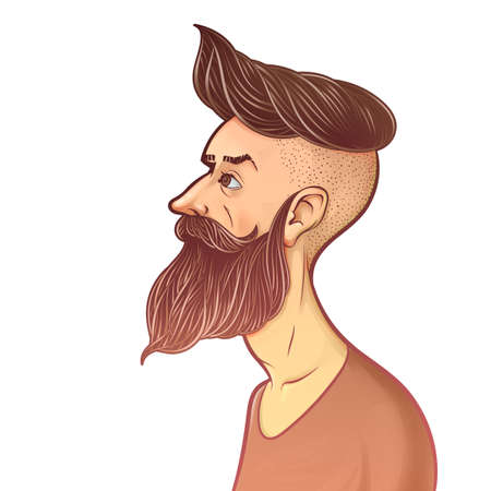 bearded man illustration