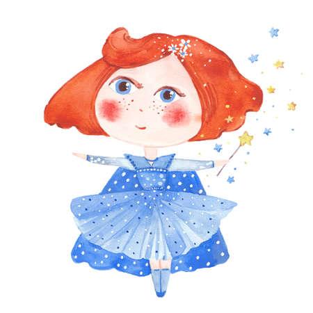 watercolor little fairy
