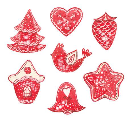 watercolor Christmas cookies