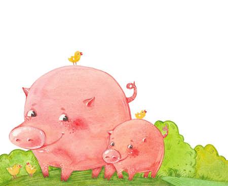 two funny pigs Reklamní fotografie